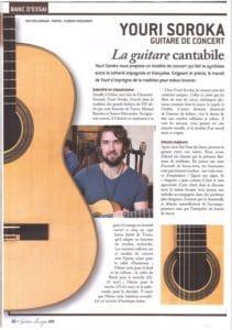 Banc d'essai - Youri Soroka, Guitare de Concert